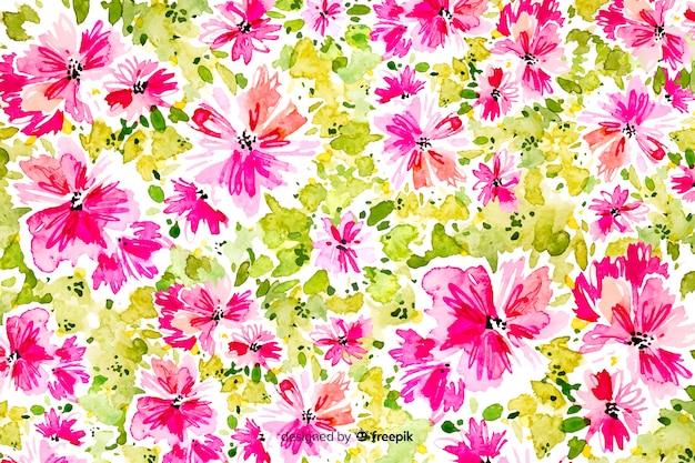 Bellissimo sfondo floreale astratto dell'acquerello Vettore gratuito