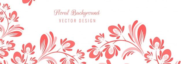Bellissimo sfondo floreale decorativo Vettore gratuito