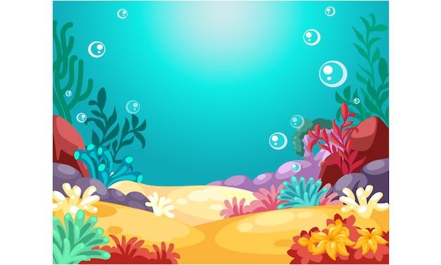 Bellissimo sfondo sott'acqua Vettore Premium