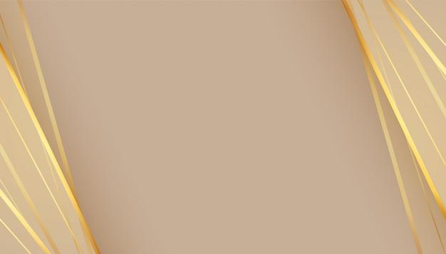 Bellissimo sfondo vuoto con linee dorate Vettore gratuito