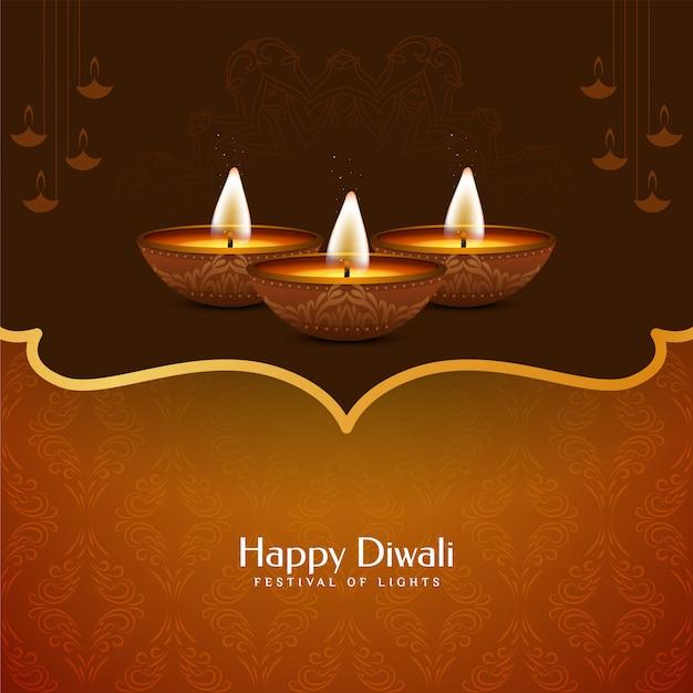 Bello disegno decorativo felice del fondo di diwali Vettore gratuito