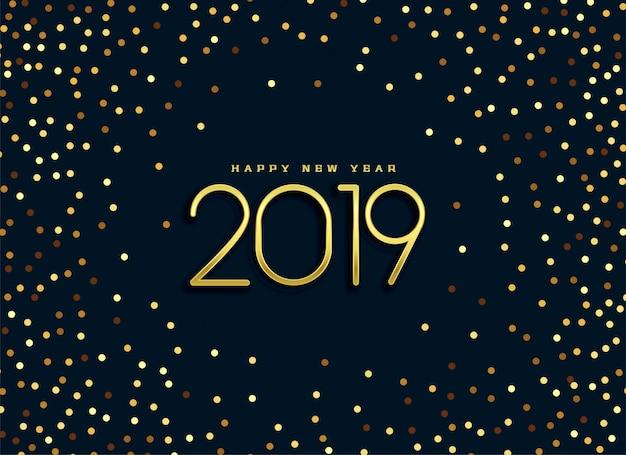 Bello fondo di scintillio dorato 2019 Vettore gratuito