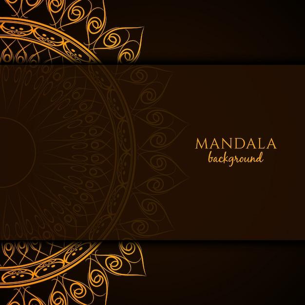 Bello sfondo di design mandala Vettore gratuito