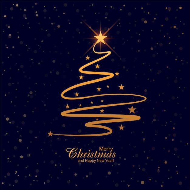 Bello vettore del fondo della carta dell'albero di Buon Natale Vettore gratuito
