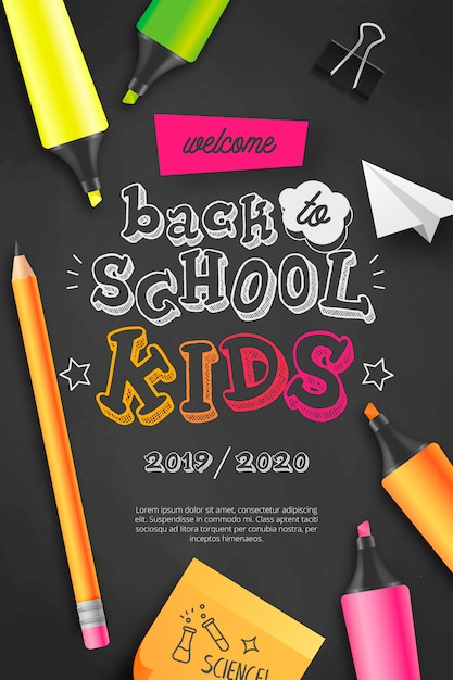 Bentornati a scuola bambini Vettore gratuito