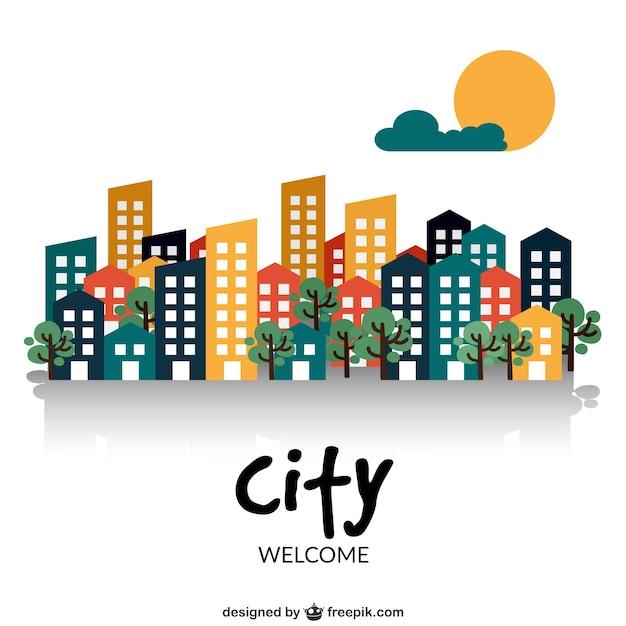Benvenuti nella città Vettore gratuito