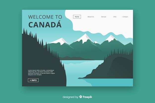 Benvenuti nella pagina di destinazione del canada Vettore gratuito