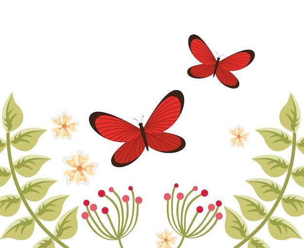 Benvenuto illustrazione di primavera Vettore gratuito