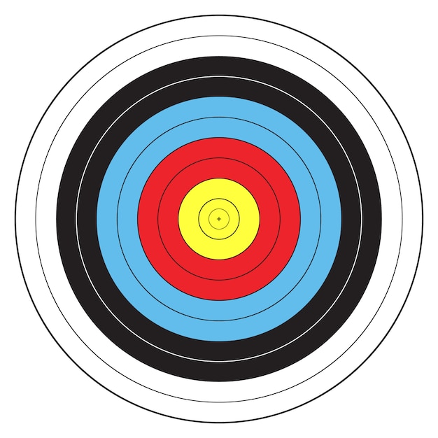Bersaglio sportivo tiro con l'arco Vettore Premium