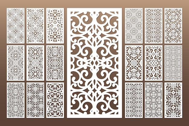 Bianco decorativo die cut seamless pattern Vettore Premium
