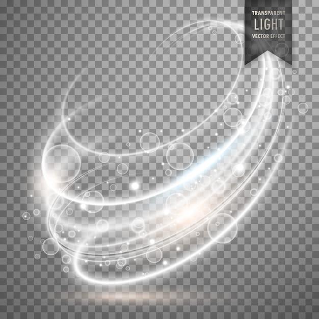 Bianco trasparente luce effetto vettoriale sfondo Vettore gratuito
