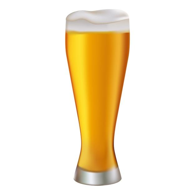 Bicchiere di birra illustrazione Vettore Premium