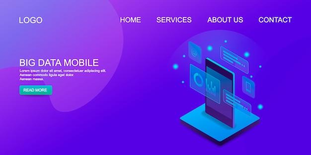 Big data mobili Vettore Premium