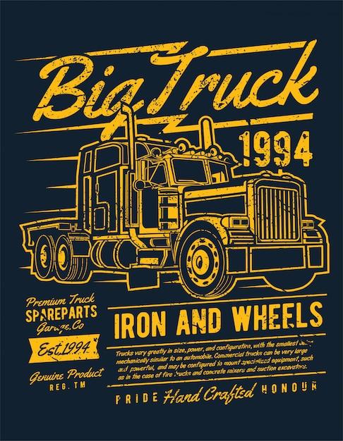 Big truck 2 Vettore Premium