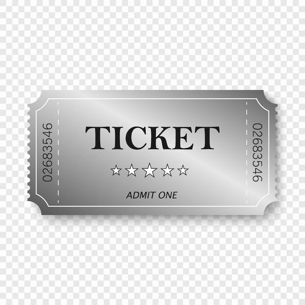 Biglietto d'ingresso in vecchio stile vintage. Vettore Premium