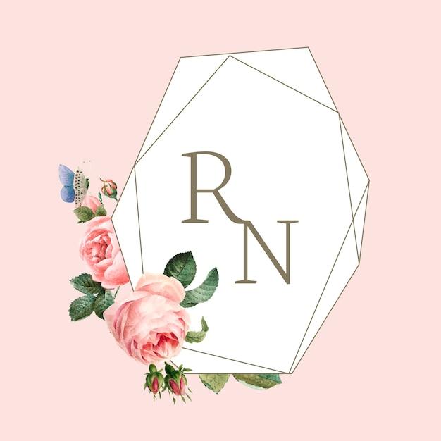 Biglietto d'invito matrimonio decorato con rose Vettore gratuito
