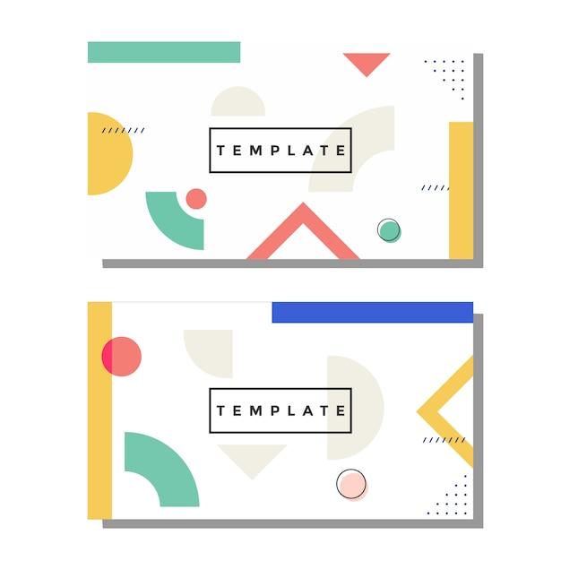 Biglietto da visita artistico di memphis Vettore Premium
