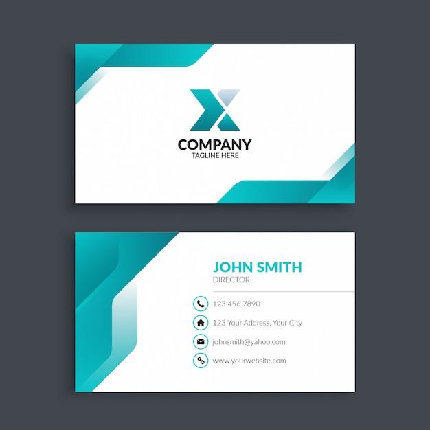 Biglietto da visita aziendale moderno professionale Vettore Premium