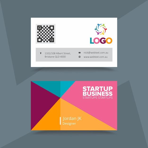 Biglietto da visita aziendale startup aziendale Vettore Premium