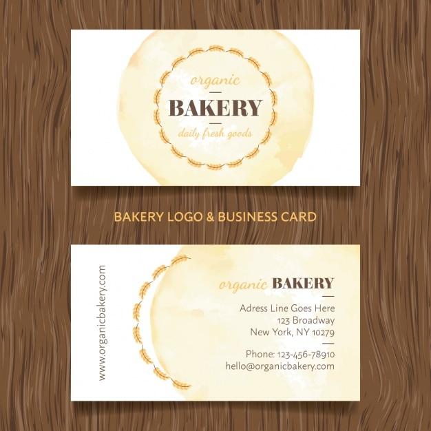 Biglietto da visita bakery Vettore gratuito