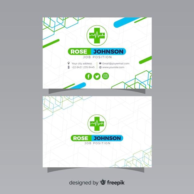 Biglietto da visita con concetto medico in stile moderno Vettore gratuito