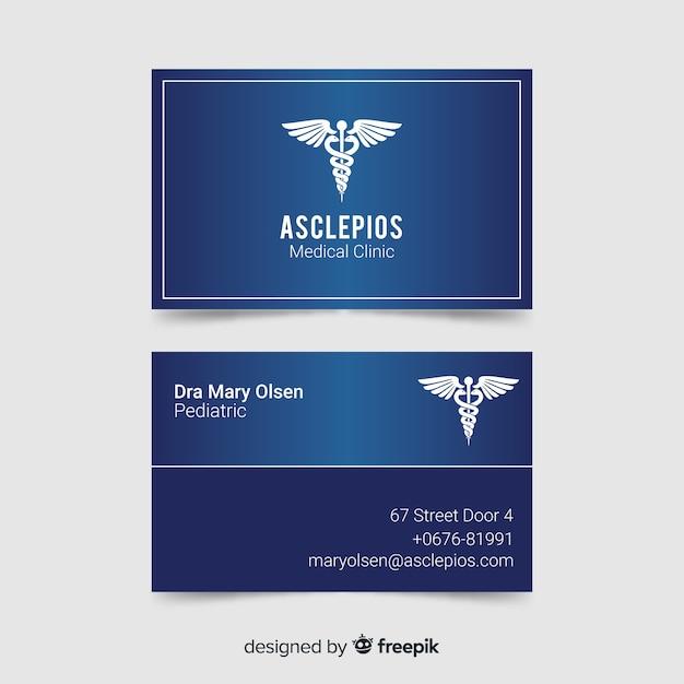 Biglietto da visita con concetto medico Vettore gratuito