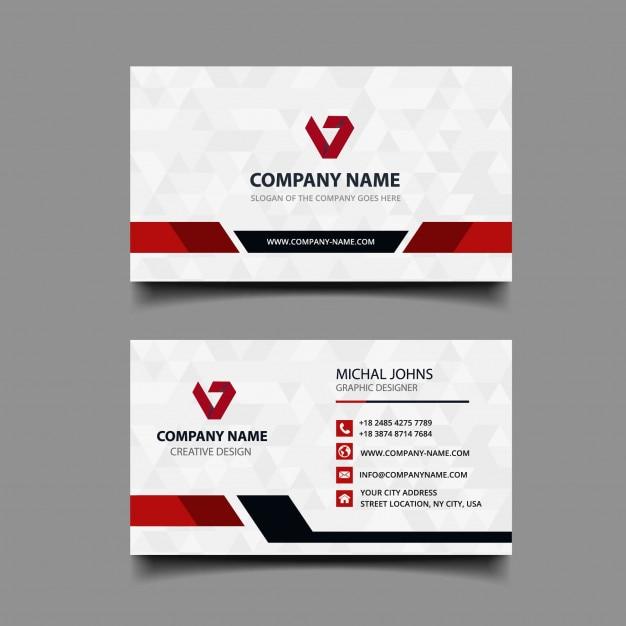 Biglietto da visita con design moderno Vettore Premium