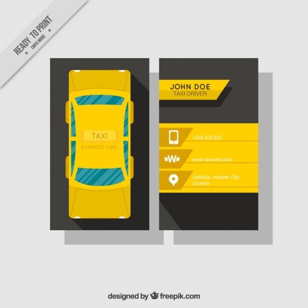 Biglietto da visita con le bandiere per i taxi Vettore gratuito