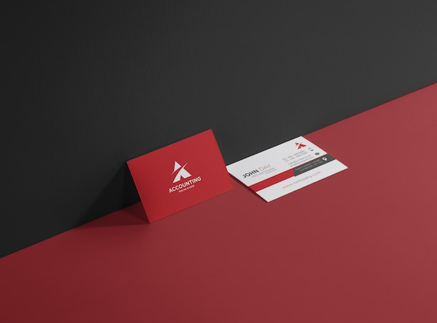 Biglietto da visita contabile e finanziario Vettore Premium