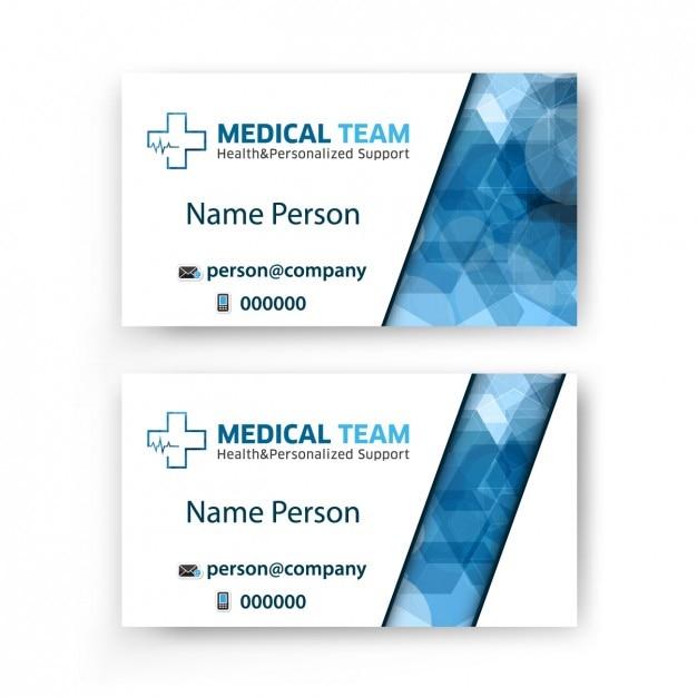 Biglietto da visita del gruppo di medici Vettore gratuito