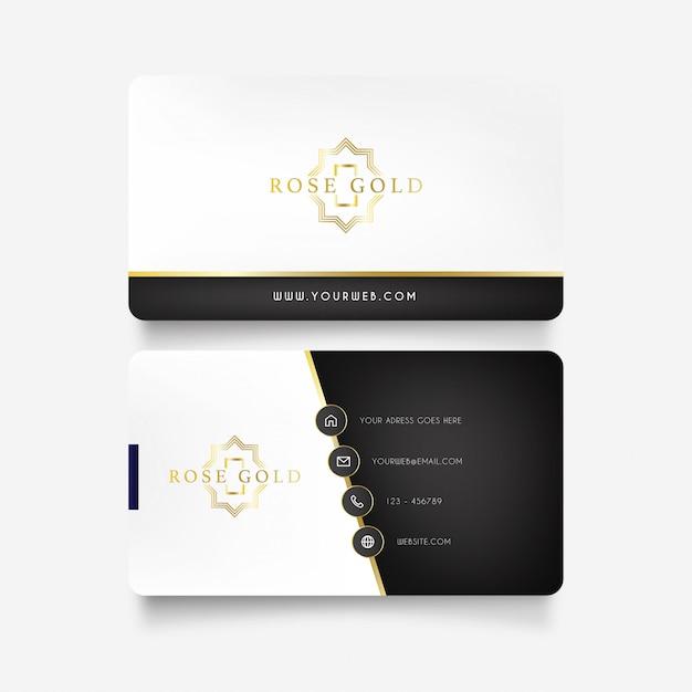 Biglietto da visita di lusso con logo dorato Vettore gratuito