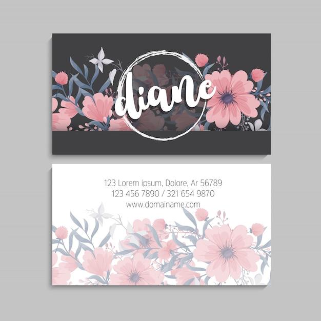 Biglietto da visita floreale Vettore gratuito
