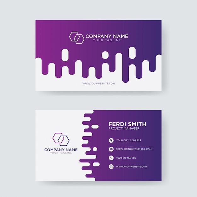 Biglietto da visita moderno alla moda Vettore Premium