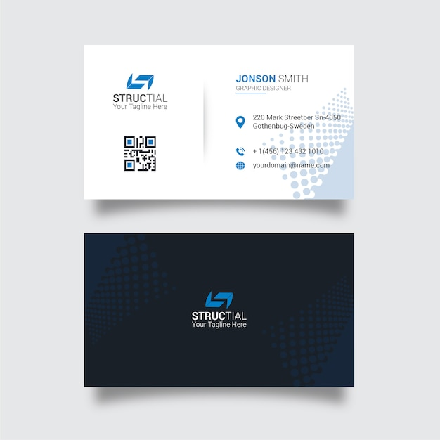 Biglietto da visita moderno Vettore Premium