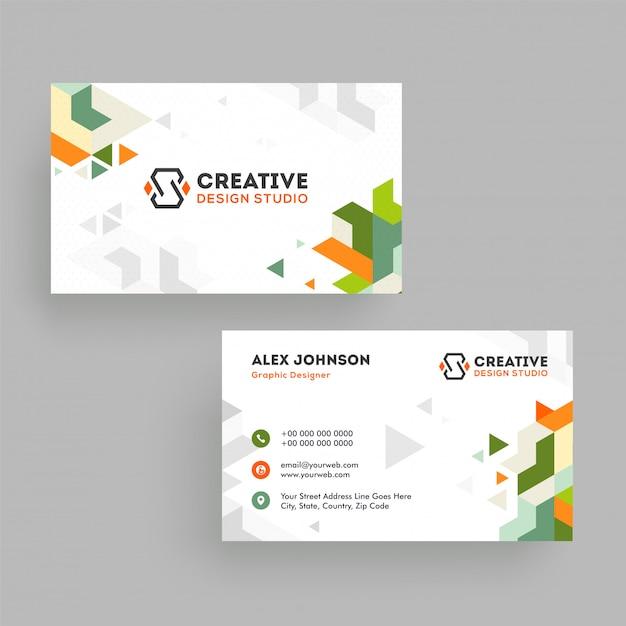Biglietto da visita o biglietto da visita studio creativo Vettore Premium