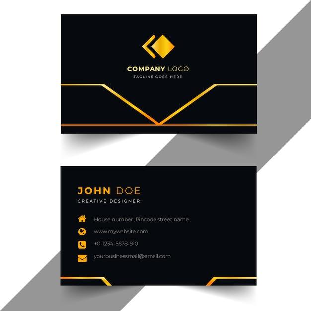Biglietto da visita professionale premium Vettore Premium