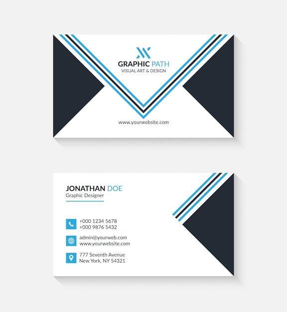 Biglietto da visita semplice con logo o icona per il tuo business Vettore Premium
