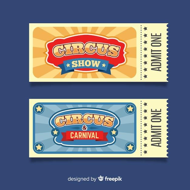 Biglietto del circo d'epoca Vettore gratuito