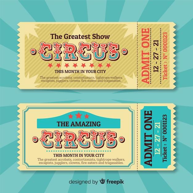 Biglietto del circo Vettore gratuito