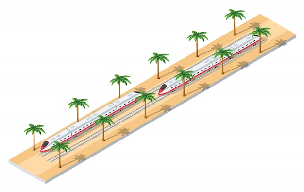 Biglietto del treno online Vettore Premium