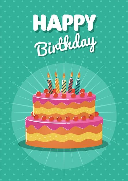 Biglietto Di Auguri Di Compleanno E Carta Di Invito Con