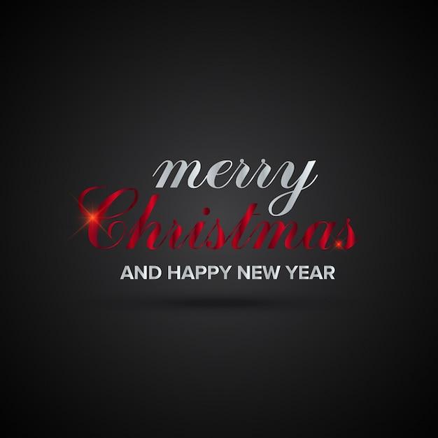 Immagini Auguri Di Natale E Buon Anno.Biglietto Di Auguri Di Natale E Capodanno Scaricare Vettori Gratis