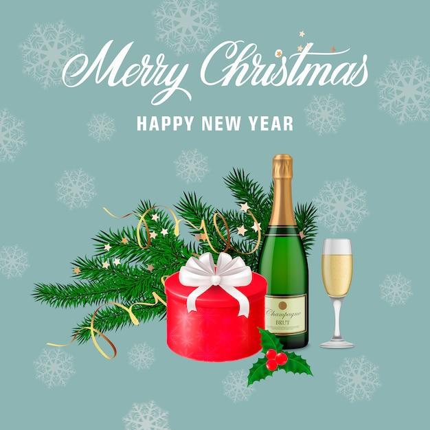 Immagini Auguri Di Natale Gratis.Biglietto Di Auguri Di Natale E Capodanno Scaricare Vettori Gratis