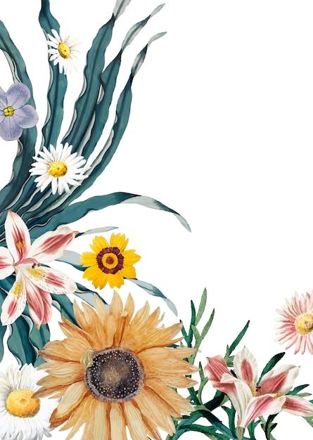 Biglietto di auguri fiorito Vettore gratuito