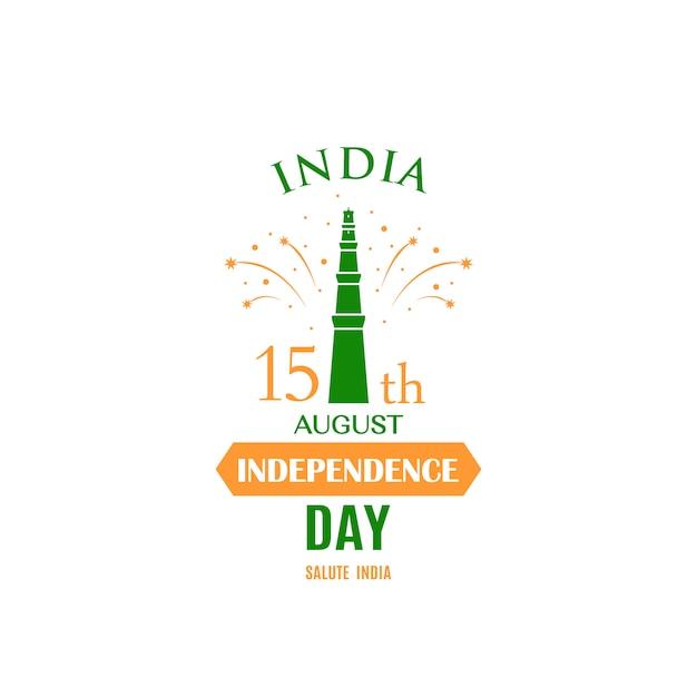 Biglietto di auguri per celebrare il giorno dell'indipendenza. Vettore Premium