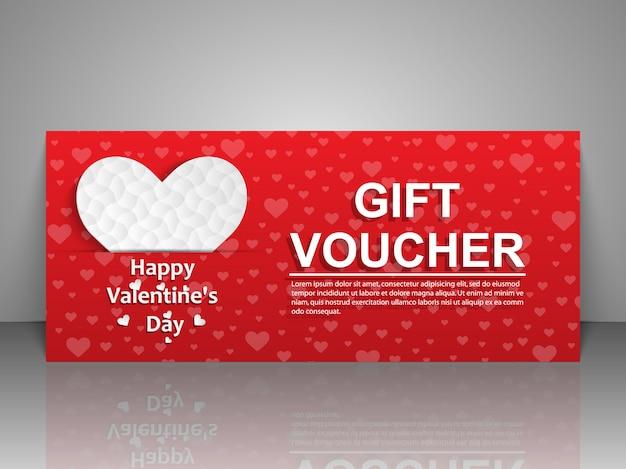 Biglietto di auguri per san valentino Vettore Premium