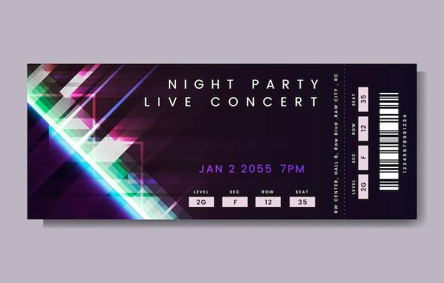 Biglietto per il concerto dal vivo Vettore gratuito