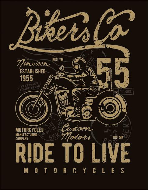 Bikers co Vettore Premium