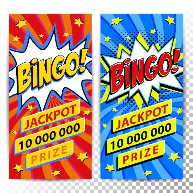 Bingo lotteria banner web Vettore Premium