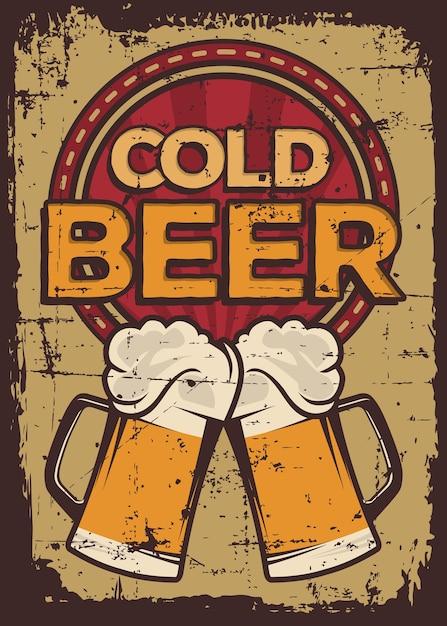 Birra fredda Vettore Premium